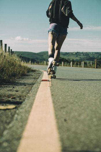 patins, patinaçao, estrada, road, sunlight Chet Faker Nature One Person Roadtrip Skating Skating Roading Sky Sports Sunlight Women Around The World
