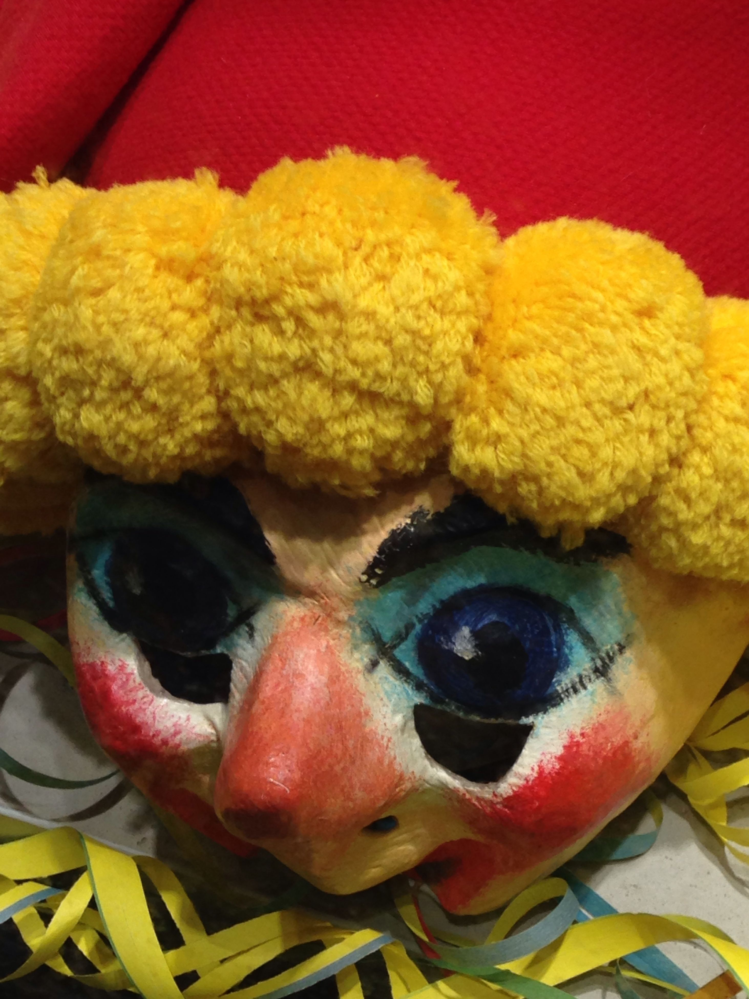 toy, animal representation, stuffed toy, teddy bear, yellow, close-up, toy animal, no people, childhood, indoors, clown