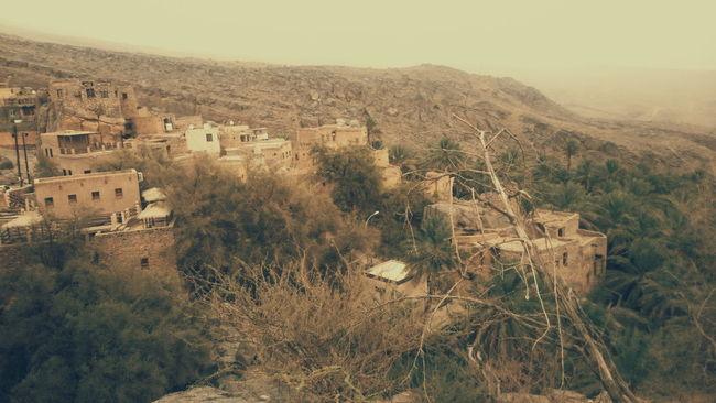 A village, Misfat Al Abriyyin somewhere high up in the Omani Mountains. Near Al Hamra in Oman