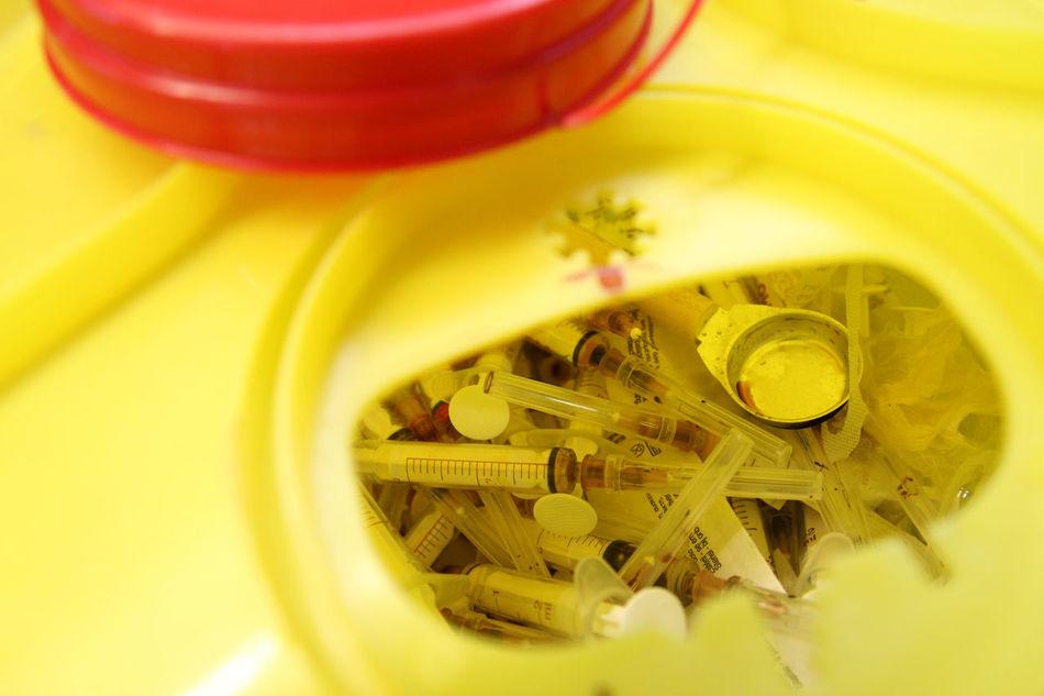 Addicted Close-up Drugs Fix  Heroin Heroine Hopeless Injection Needle Needles Shot Still Life Used Yellow