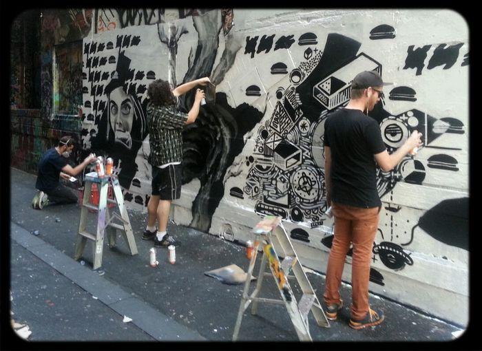 Union Lane Graffiti Streetart Monochrome