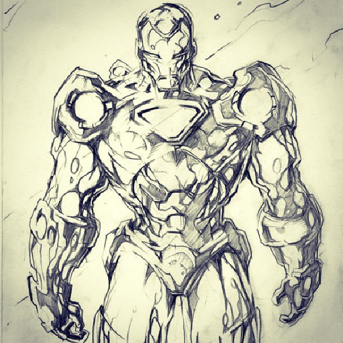 Orek-orek berhadiah Art Skets Ironman Pencils