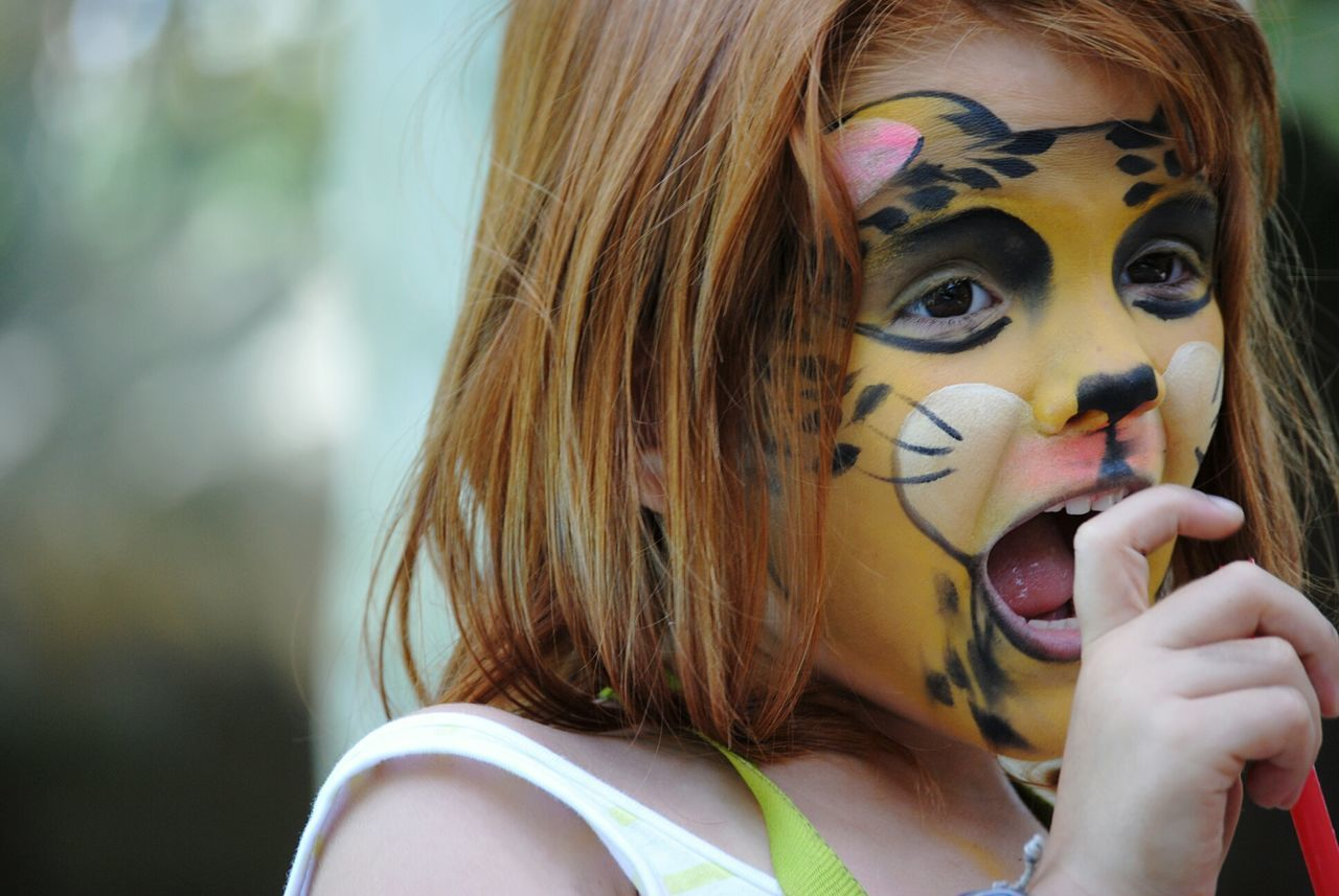 EyeEm Gallery 3XSPUnity Eyeem Photography Populer Photos Portrait Photography Portait Of A Woman Portait Popular Girl Portrait Childhood Memories Kids Having Fun Kid Kidsportrait Painting Bodypainting Bodypaint Inocence  Happiness Guepard