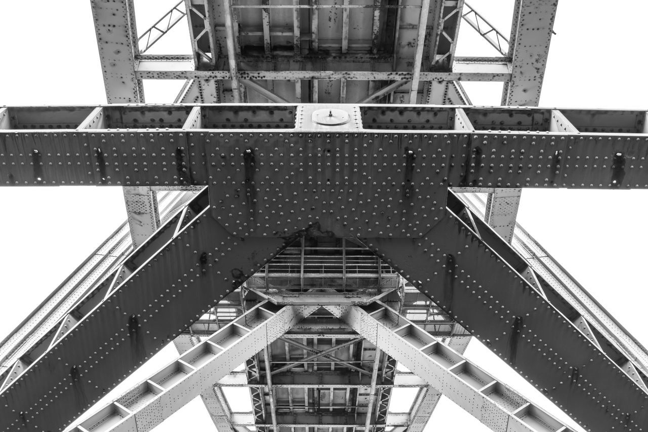 Isle of Mull, Scotland - metal bridge structure seen from below, black and white Architecture Black & White Blackandwhite Blackandwhite Photography Bridge - Man Made Structure Built Structure Construction Low Angle View Metal Monochrome Outdoor Photography Outdoors Scotland Structure