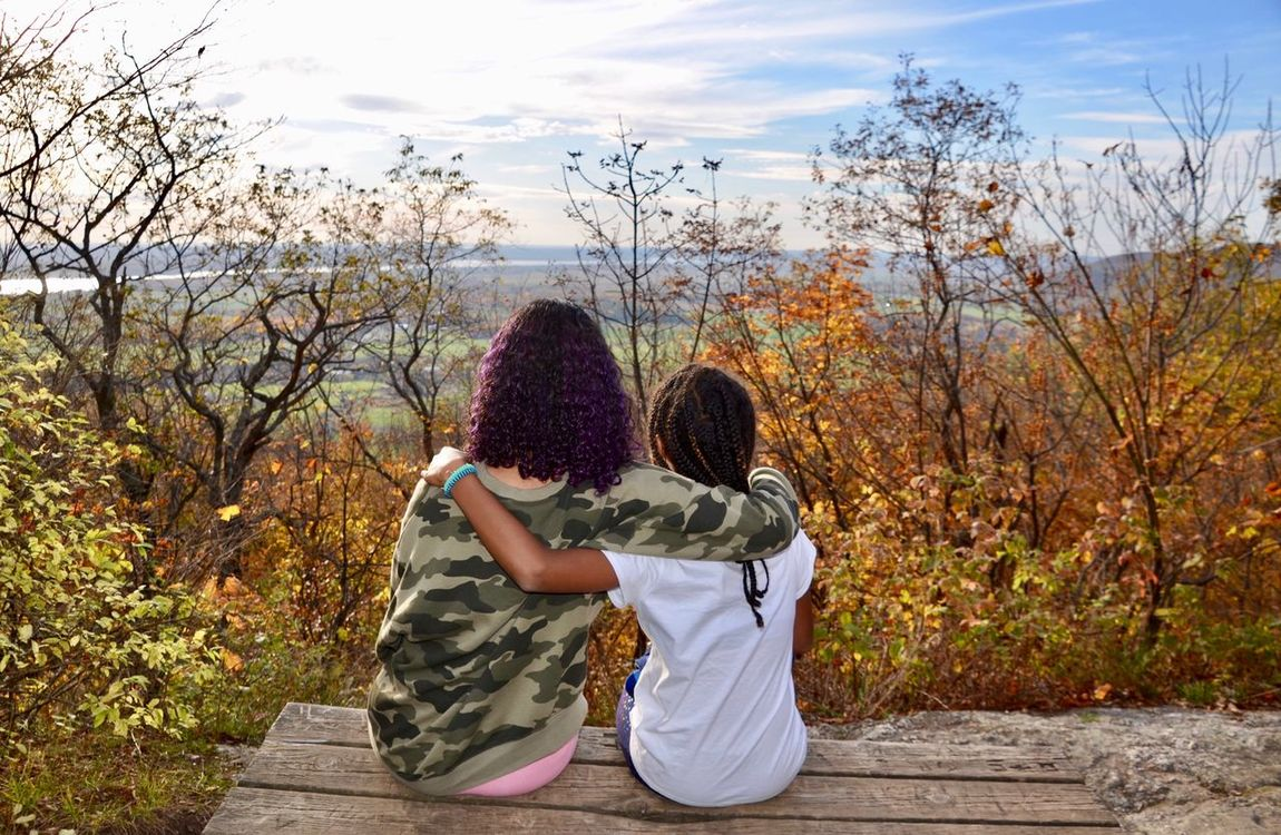 Togetherness Autumn Change Bonding Outdoors Two People Real People Friendship Lifestyles Sky Tree EyeEm Selects Tranquil Scene Scenics Canada 150 Canada, Eh? Gatineau Park Be. Ready.