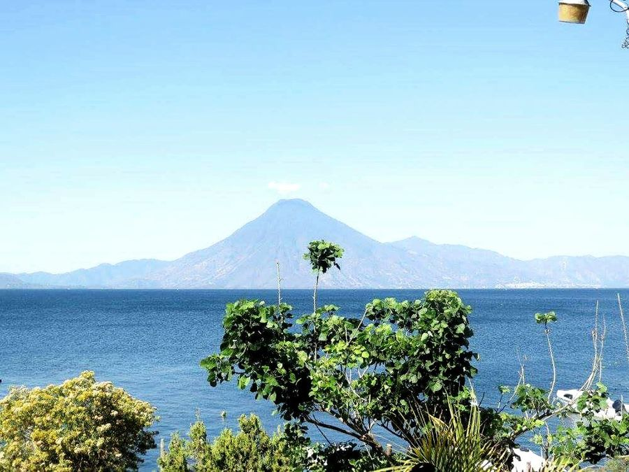 Mountain Water Nature No People Blue Sky Outdoors Enjoying Life Colors Of Nature Relaxation Happy :) Nature Lake Atitlan Guatemala