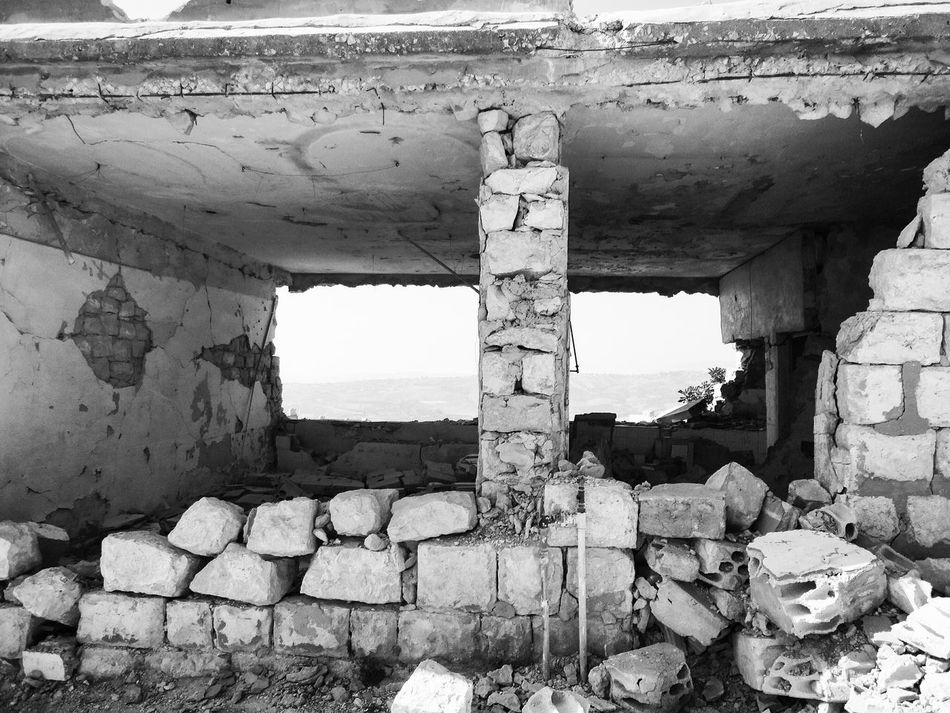 Khiam Lebanon 🇱🇧 Blackandwhite Detention Center Old Ruin Abandoned Built Structure Architecture History Damaged Ruined Ancient Civilization Bad Condition Weathered Ancient No People Obsolete Day Sky Building Exterior Outdoors