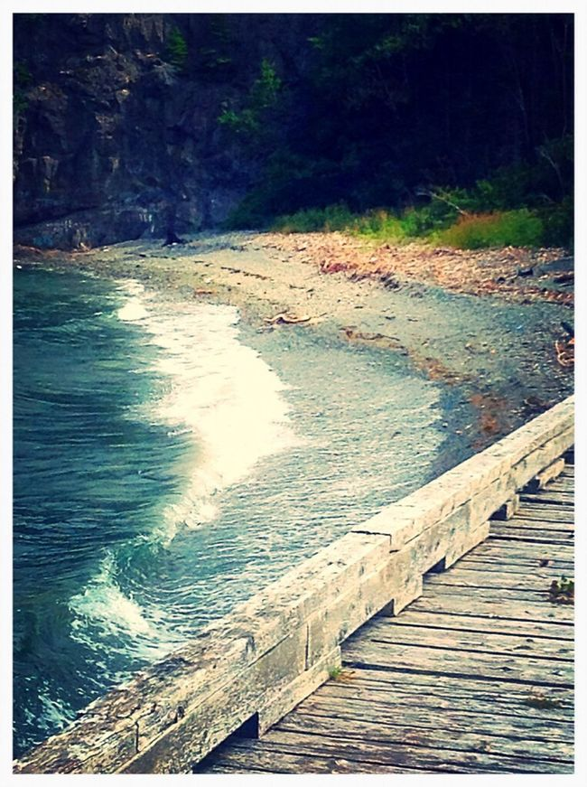The view of the water here! Amazing View Ocean View Waves Crashing Beautiful :)