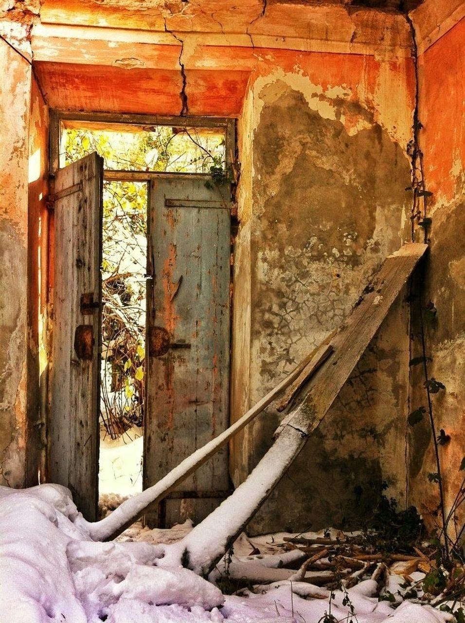 Open Door In Old Abandoned House