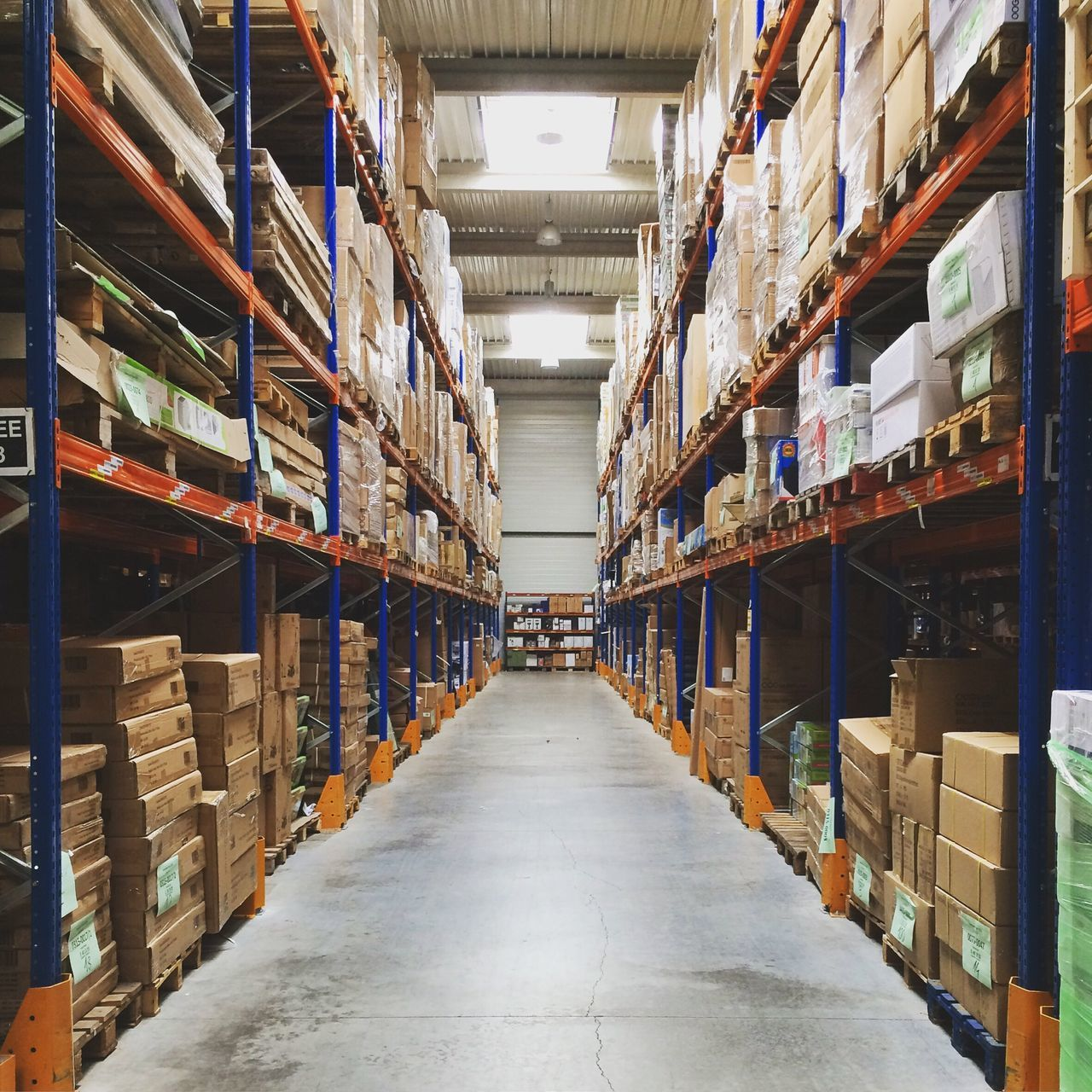 Stock | Warehouse Shelf Distribution Warehouse Industry Abundance Cardboard Box Transportation Retail  Shipping  Large Group Of Objects In A Row Business Variation Indoors  No People Cardboard Day