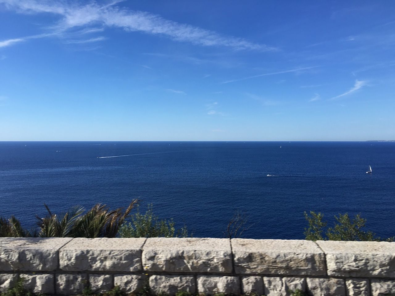 Sea Horizon Over Water Water Tranquility Tranquil Scene Nature Blue Beauty In Nature No People Sky Monaco
