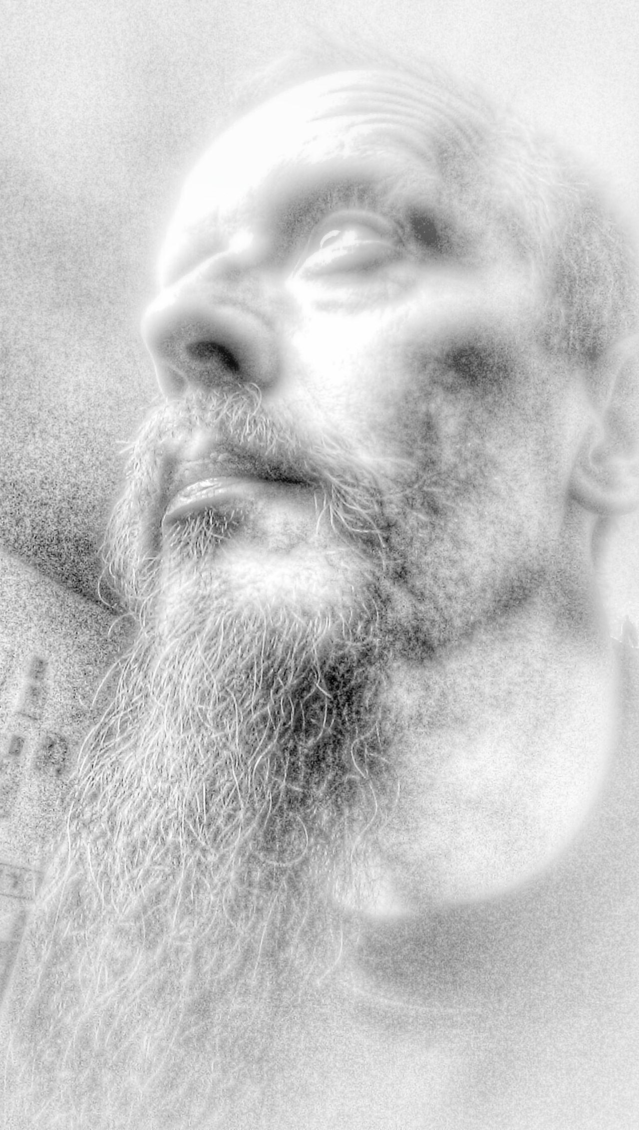 Thats Me  Monochrome Portrait HDR Selfportrait My Beard
