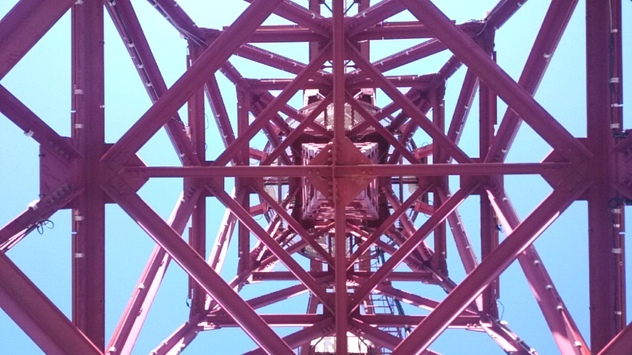 Pattern Built Structure Engineering Sky Architecture Red Connection Day No People Outdoors Close-up Crane - Construction Machinery Crane Tokyo,Japan Toyosu Business Finance And Industry Metal Sea Side Industry Clear Sky