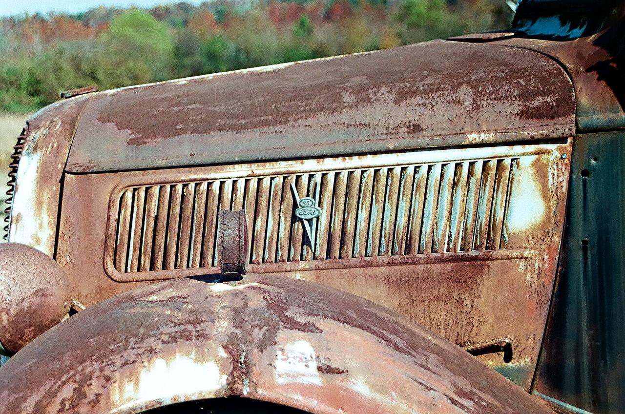 35mm Film Abandoned Car Close-up Day EyeEm Gallery Film Land Vehicle Metal Minolta X-370 Mode Of Transport No People Outdoors Rusty Transportation