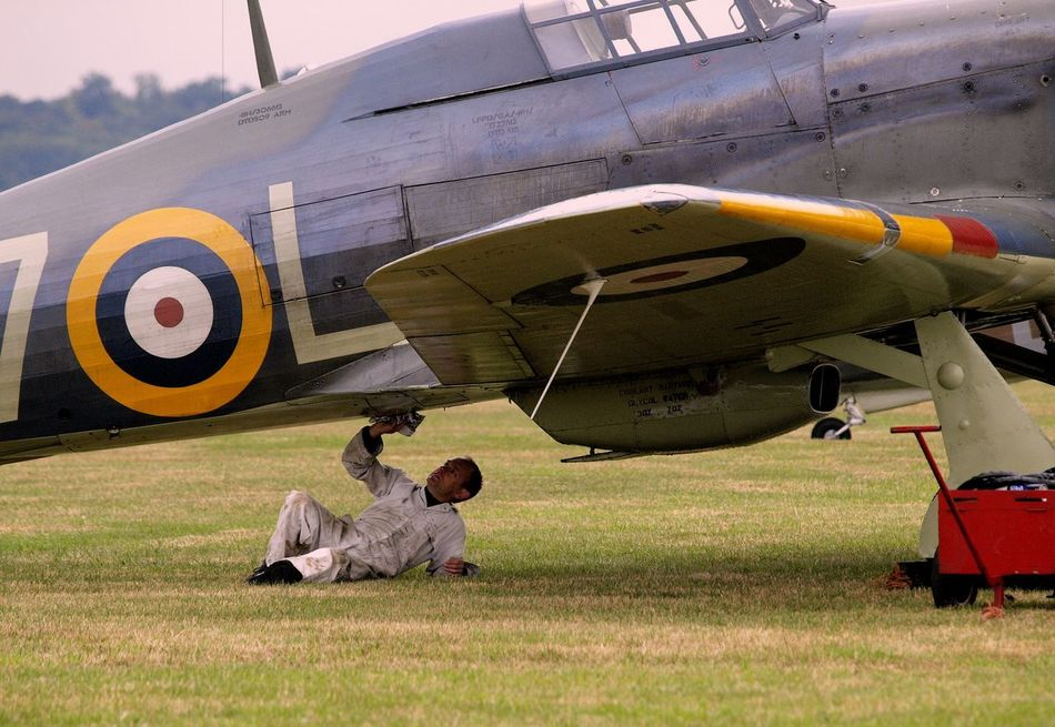 RAF Biggin Hill Aerodrome. Battle of Britain 1940 RAF Biggin Hill Aerodrome. 1940 Battle Of Britain Green Color Ground Crew Hawker Hurricane Pilot RAF Base RAF Memorial Reach For The Sky Spitfire Crew Reunion. Spitfire Engine Transportation