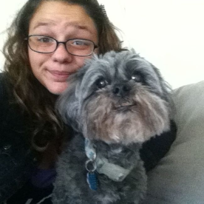 From a few days ago but was reunited my favorite dog Lovethisdog Deim Myfavortie ❤