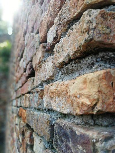 Rock - Object Rough Day Outdoors Nature No People Close-up Textured  Sky Bricks Brick Wall Terracotta Kota Belanda (Dutch Fort) Pangkor Island Perspective View
