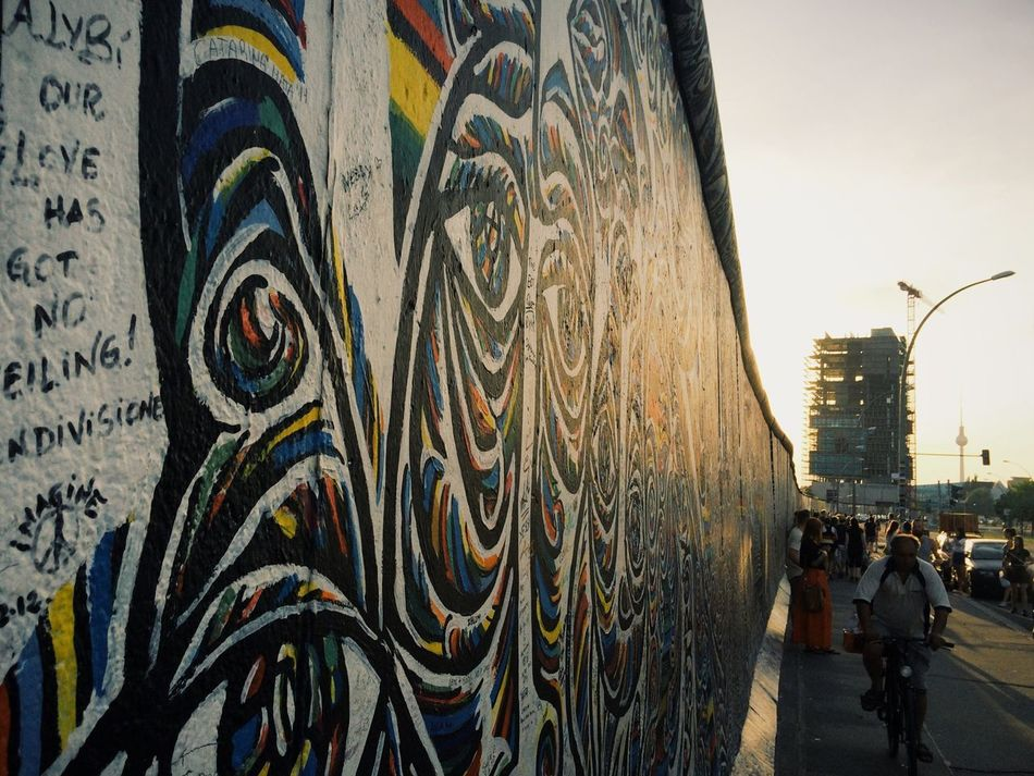 I still remember when this wall was white and you knew that there was another country behind it. // Berlin Wall