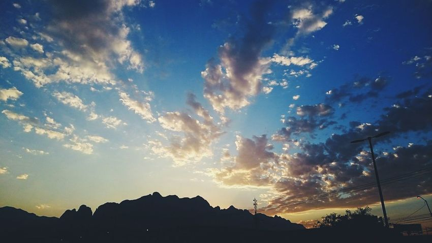In hard days, just look up at the sky Vscocam Tgif Mountains Sky Clouds View