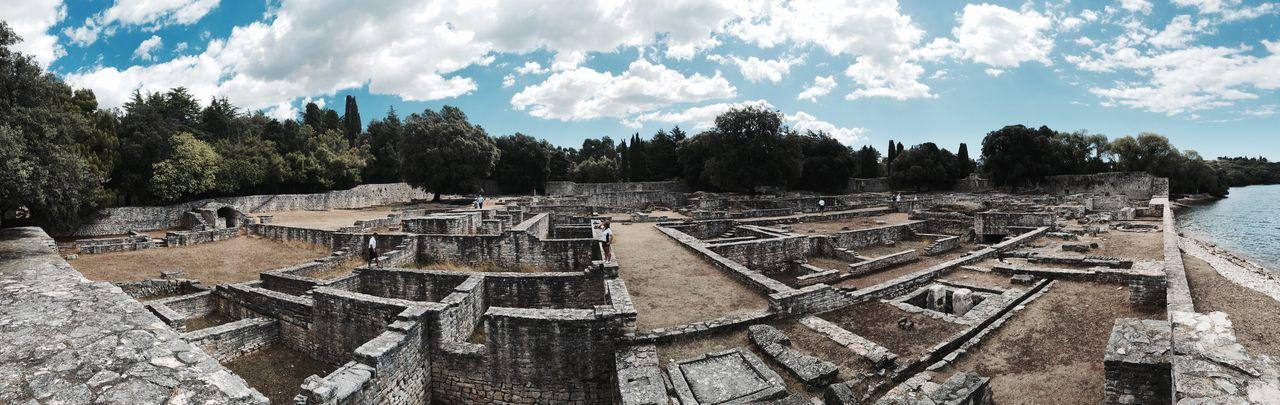 Roman ruins on Brijuni Island formerly known as Tito's Island Croatia