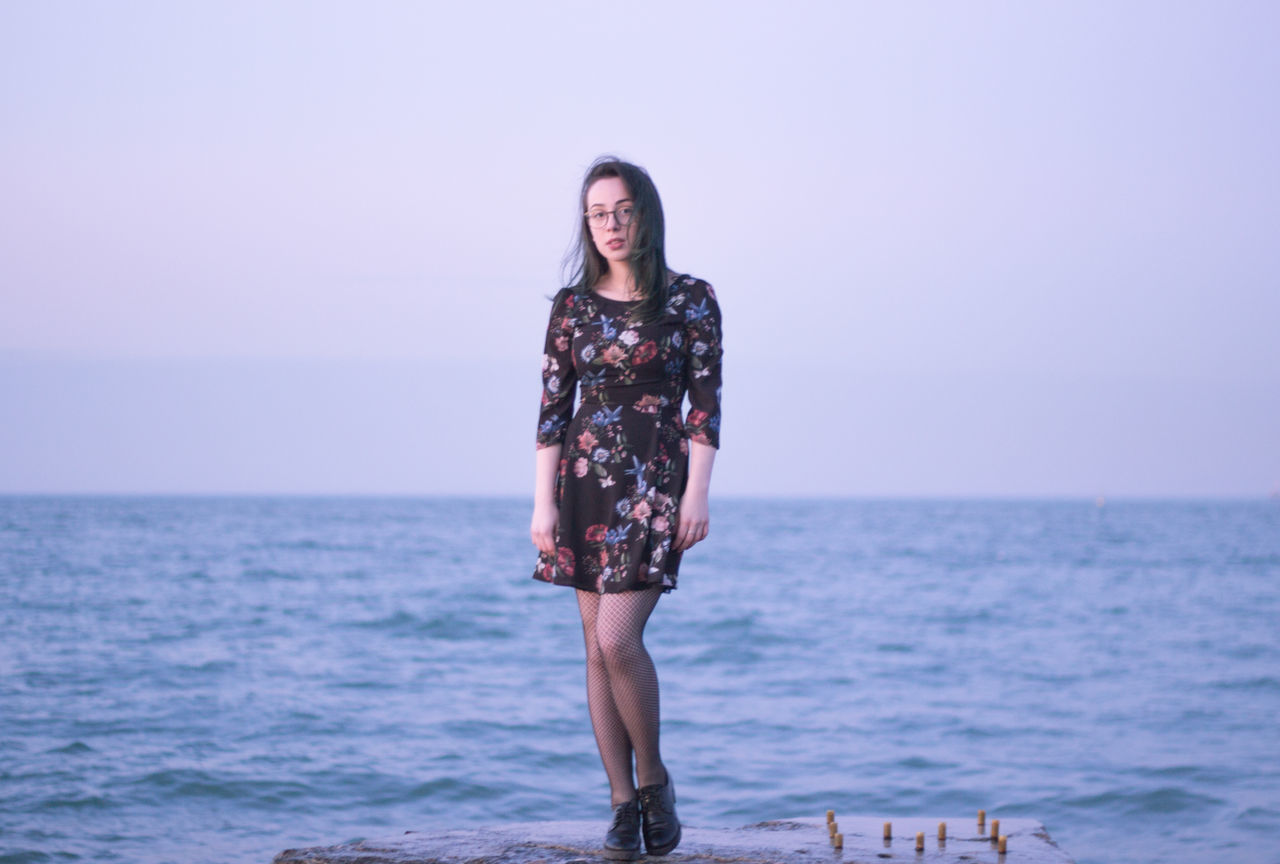 Adult Adults Only Beach Beautiful Woman Beauty Beauty In Nature Beauty In Nature Day Full Length Girl Horizon Over Water Nature One Person One Woman Only One Young Woman Only Only Women Outdoors People Pink Color Sea Sky Sky And Clouds Standing Water Young Adult