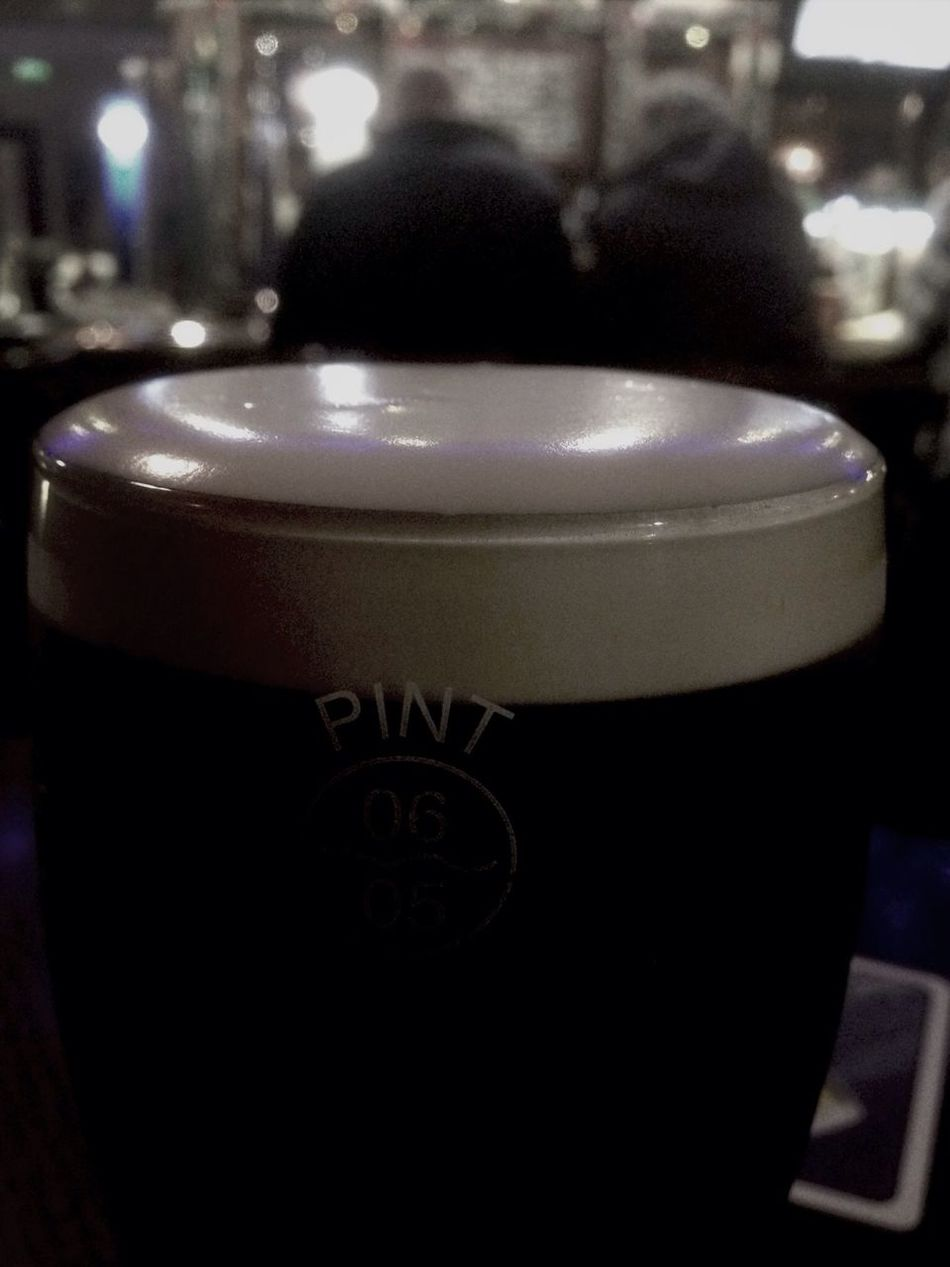 Yeah can't beat a lovely pint .