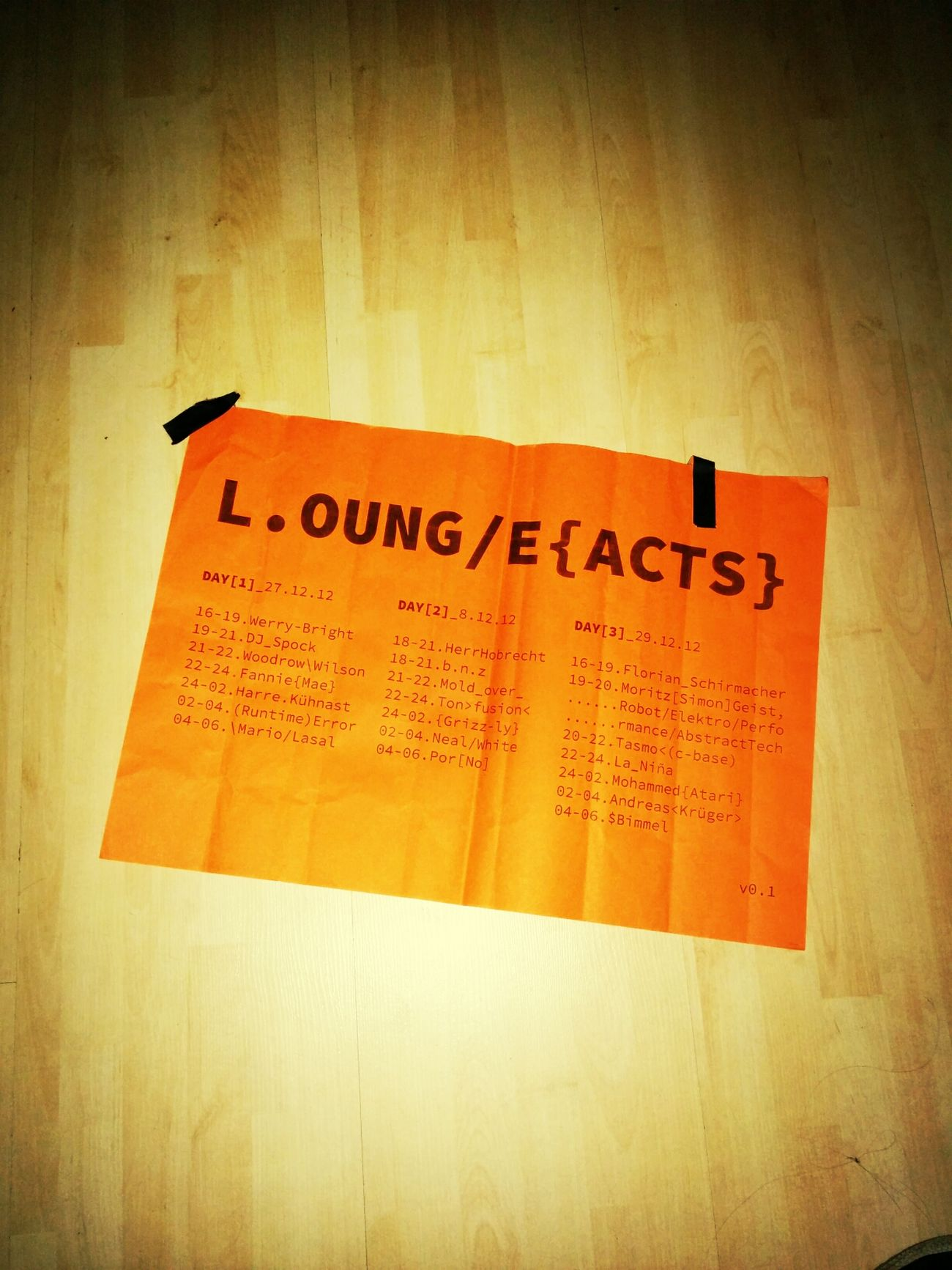 29c3 lounge acts / fahrplan / lineup