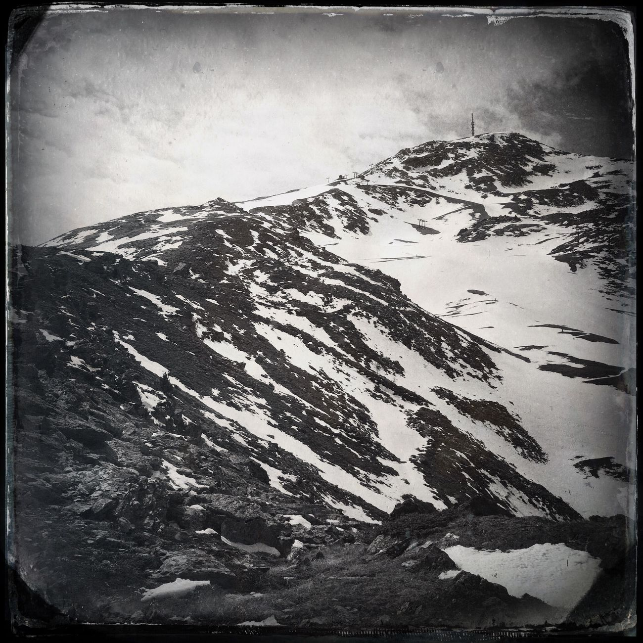 Hiking to the summit Blackandwhite Hipstamatic The_guido
