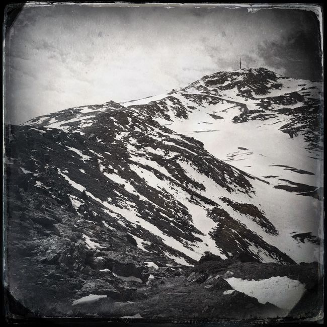 Hiking to the summit Blackandwhite Hipstamatic The_guido
