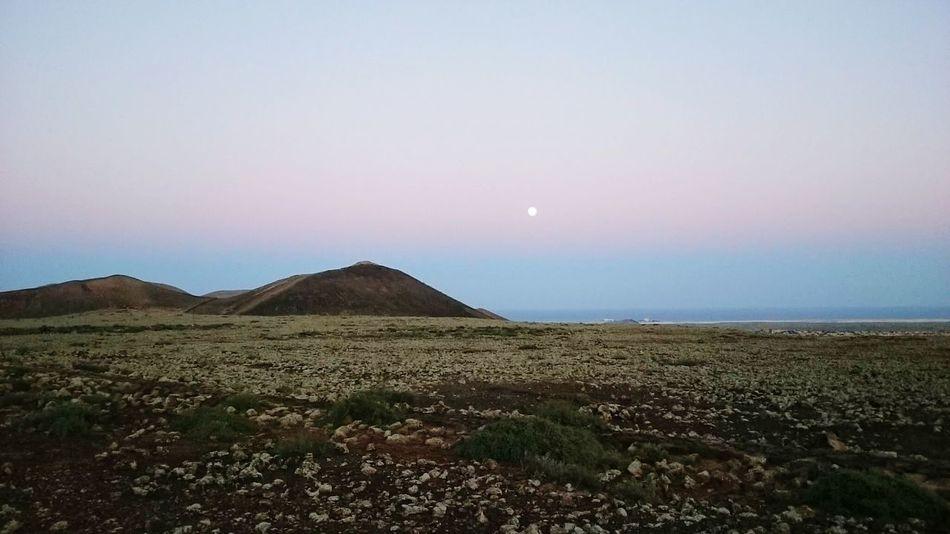 Fuertaventura Sun Tranquil Scene Tranquility Sunset Landscape Beauty In Nature Scenics Full Moon Moon Remote Fuertaventura