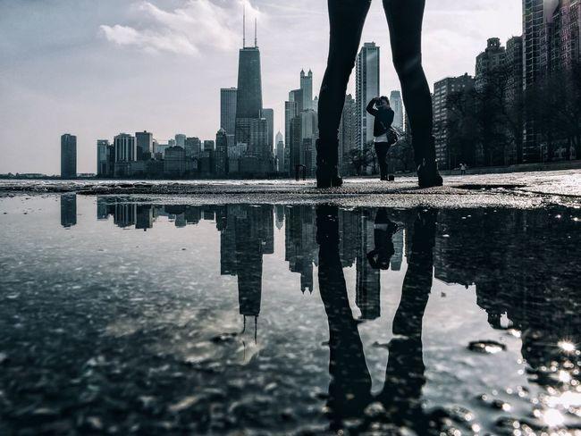 Reflection Architecture Skyline Urban Geometry Puddle VSCO Vscocam EyeEm Best Shots Chicago