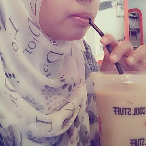 Coffee time! Hahaha.. MadebyDior Silk Linazahrah