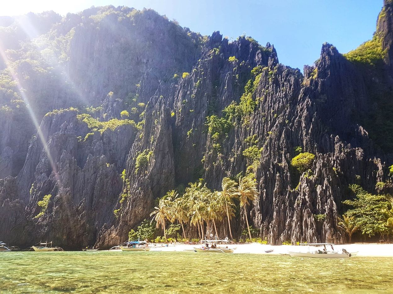 Take a break and relax. Treat yourself with a natural remedy that no money can buy. Travel and learn. Go conquer the uniqueness of nature such as in El Nido, Palawan. Nature Sunlight Outdoors No People Scenics Beauty In Nature Day Sky Tree Landscape Grass Miles Away Philippines El Nido Leisure Activity Live For The Story