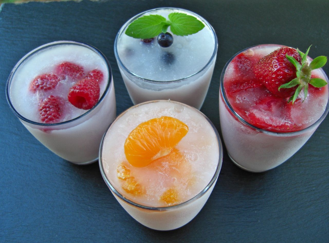Close-up Day Drink Drinking Glass Food Food And Drink Freshness Frozen Drinks Fruit Healthy Eating High Angle View Indoors  No People Raspberry Ready-to-eat