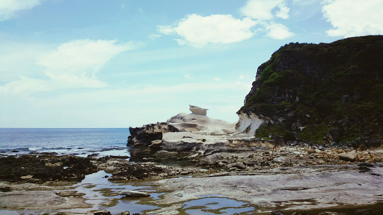 Kapurpurawan Rock Formation Sea Rock - Object Beach Horizon Over Water Outdoors No People Day Travel Destinations Sky Nature The Past EyeEmNewHere