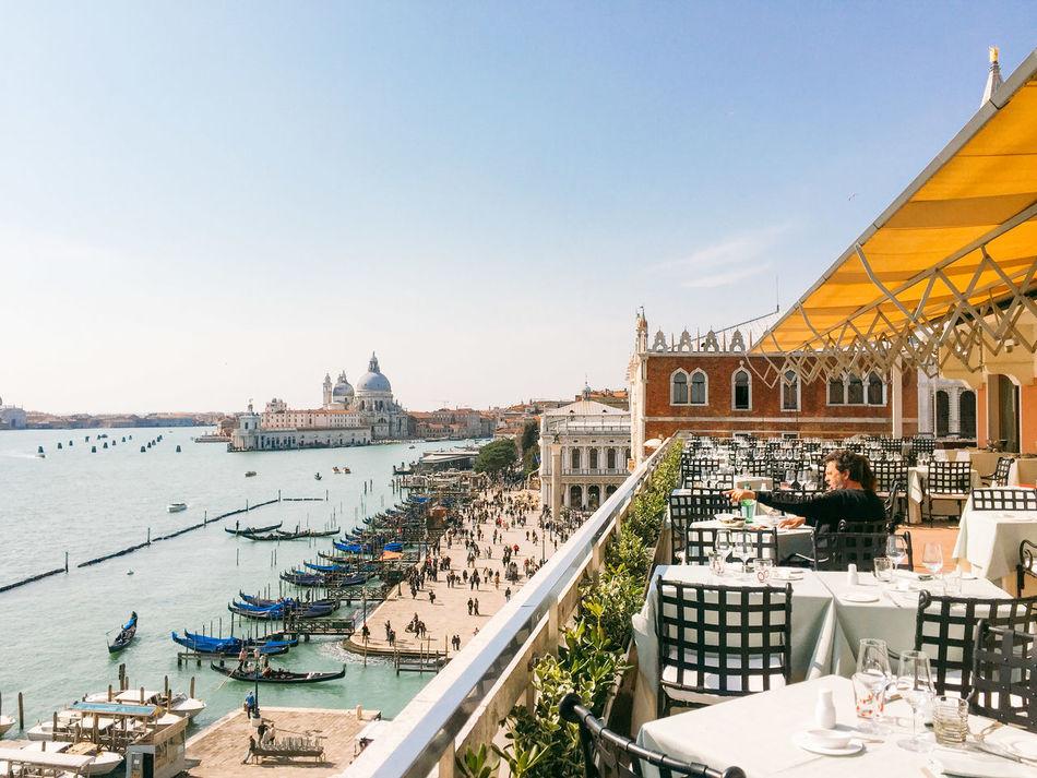 Blue Canal Day Gondola Outdoors Venice Venice, Italy Water