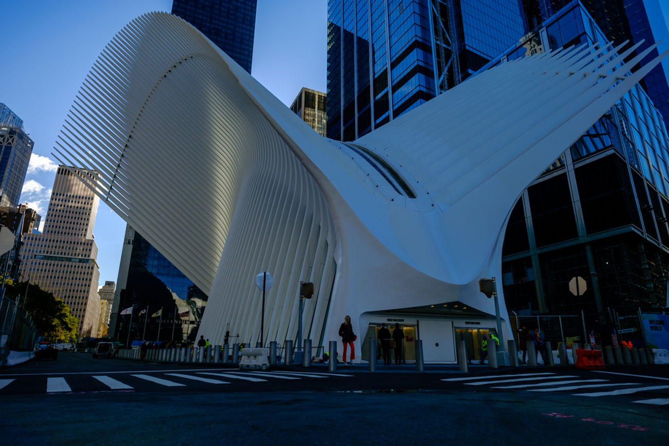 This is the Oculus represents a dove being released as a symbol of peace. Modern City Architecture Building Exterior City Myfujifilm Newyork Streetphotography Architecture Travel Fujilove