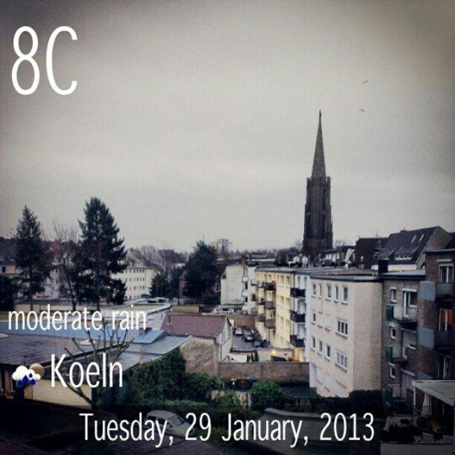 Good morning Cologne, goodbye winter, welcome rain. #WeatherTweet Weathertweet