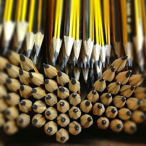 Everything In Its Place Pencils Freshly Sharpened Bouquet Of Pencils Stationery Repeat Repeating Patterns Yellow Still Life