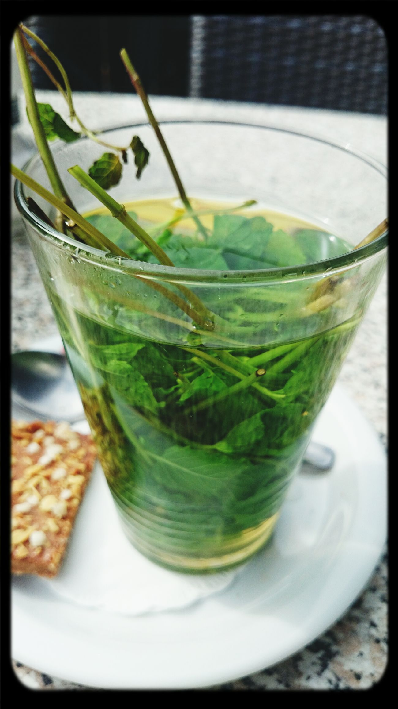 Hving a Fresh Mint Tea