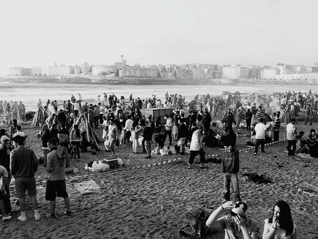 A Coruña Beach Playaderiazor Black & White