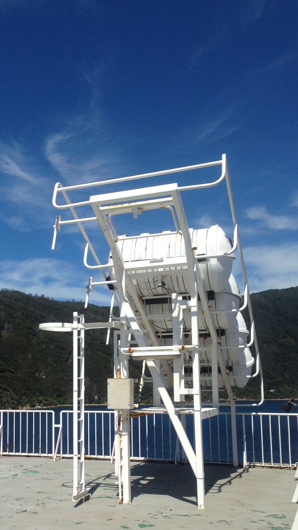 Out At Sea Hello World Taking Photos Check This Out Leaving The Harbour Full Steam Ahead Ship Shape Making A Splash Waterscape Sky Super Skyline We Are Sailing Enjoying The View Sunshine Water Reflections on board the Queen Charlotte Sound ferry