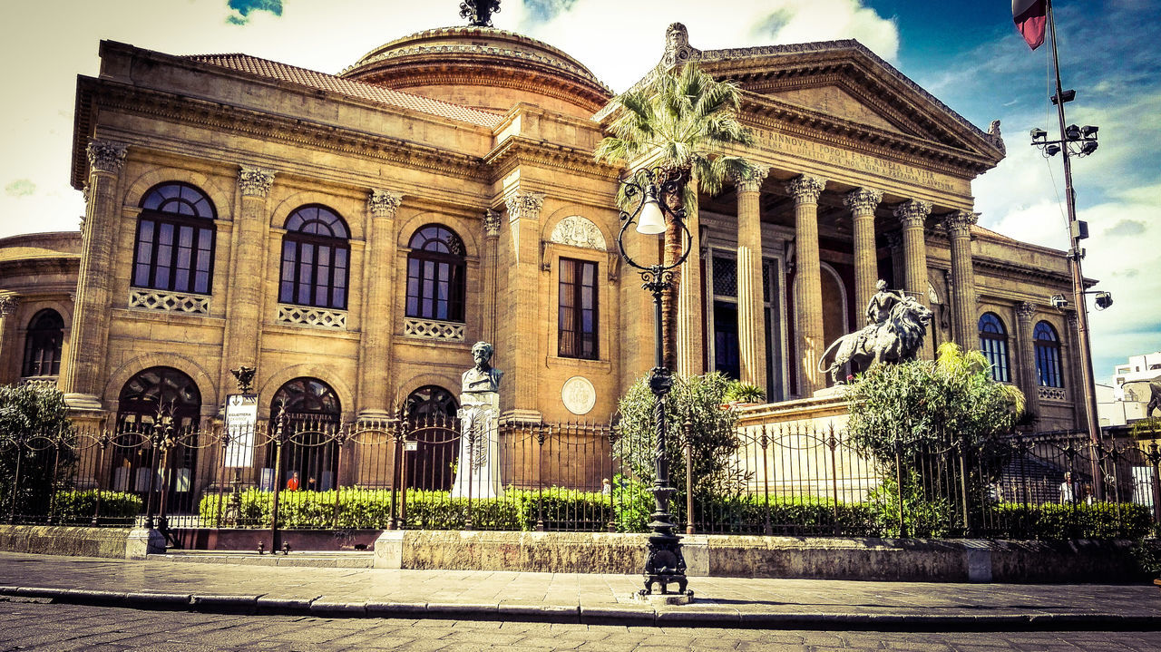 Teatro Massimo, Palermo Architecture History City Life Theatre Of Opera And Ballet Theatre Opera House Building Exterior Monument Façade Palermo, Italy Built Structure Sicily First Eyeem Photo