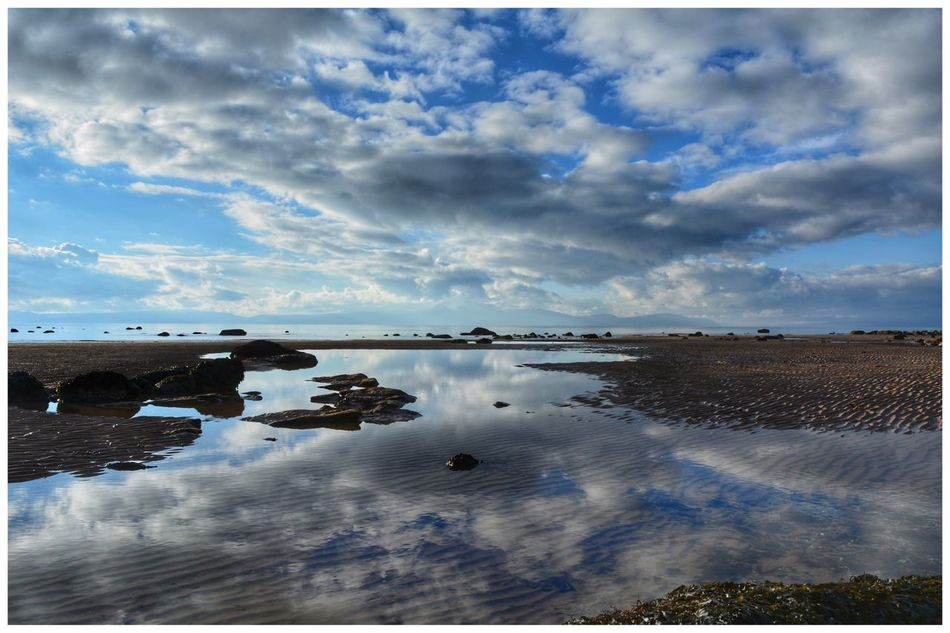Arran  from Ardrossan Ayrshire, Scotland Sky Cloud - Sky Reflection Scenics Nature Tranquil Scene Water Cloud Beauty In Nature Tranquility Outdoors No People Day Landscape Reflection Water_collection Water Reflections EyeEm Eye4photography  EyeEmBestPics EyeEm Gallery Clouds And Sky