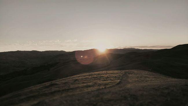 On top of Mission Peak Fremont, Ca Trailing