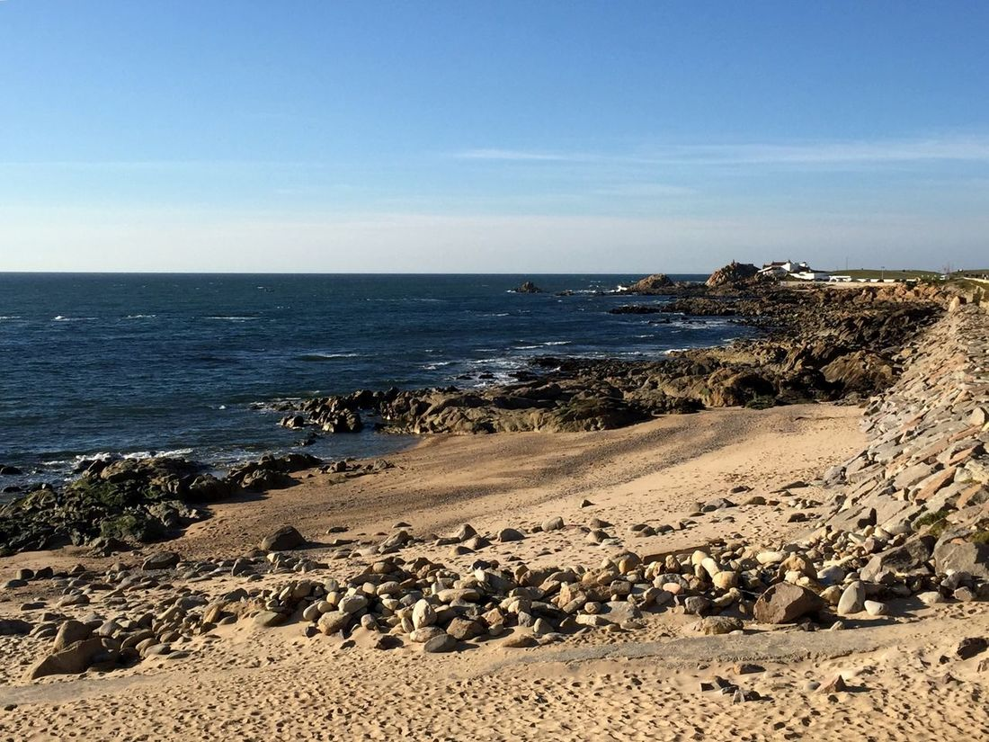 Lecadapalmeira Portugal Beach Beautiful Nature Blue Sky Sea Sand Peace And Quiet Empty Places Autumn