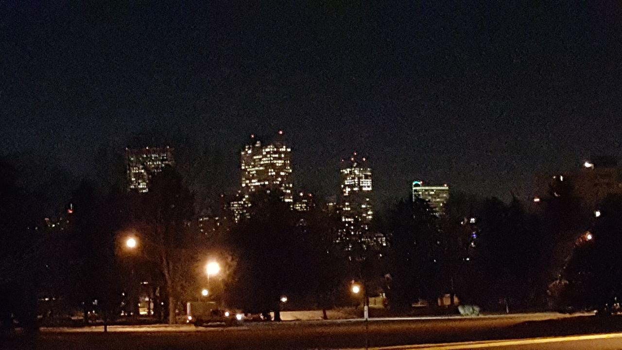 No People Night Sky Outdoors Nature Travel Destinations Architecture Illuminated City Cheesman Park