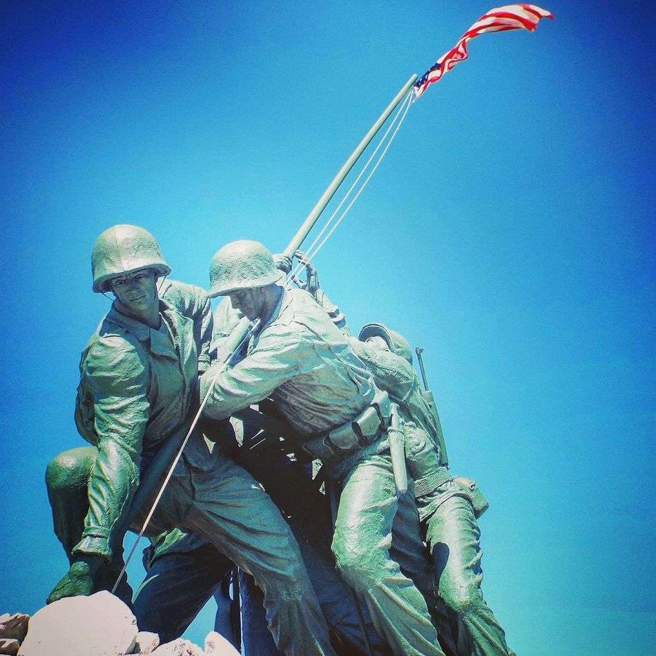 Iwo Jima Monument American Flag Remember Soldiers Clear Sky Rio Grande Valley Harlingen Tx Statue Military Hidden Gems