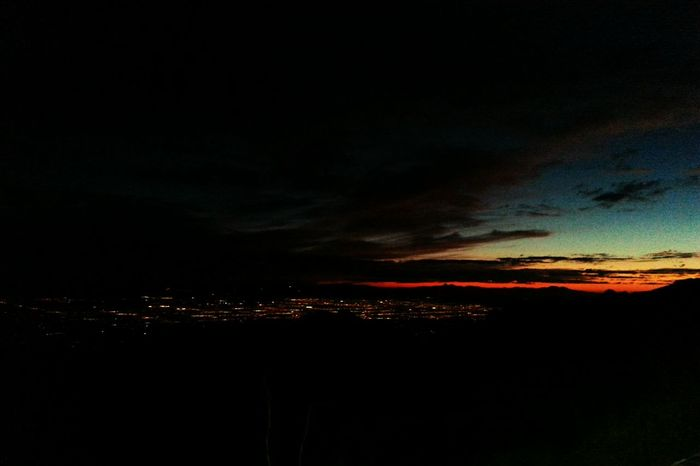 Sundown Cityoverlook Citynights Twinkling Lights Tuscon, Az Mt. Lemmon Nightfall Sunset Silhouettes Sunset_collection
