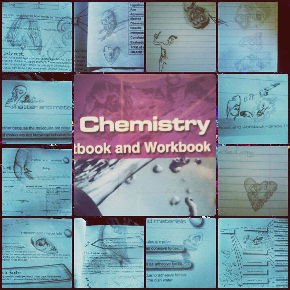When Boredism Strikes!  Pencil Drawing My chemistry book is full of weird stuff